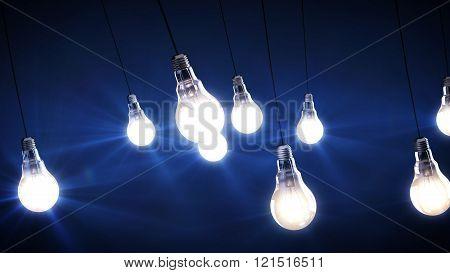 3D render of Light Bulbs