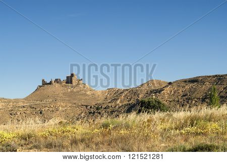 Ruins Of Fortress Near Huesca (aragon)