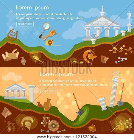 Archeology Banner Treasure Hunters