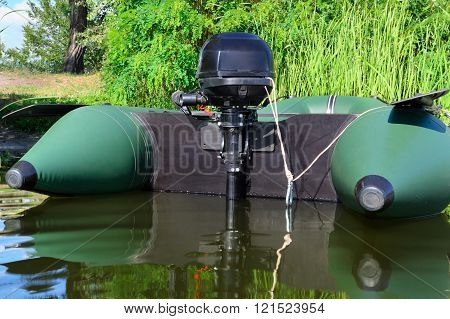 nflatable boat with motor