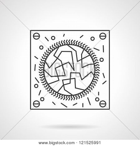 Virology research flat line design vector icon