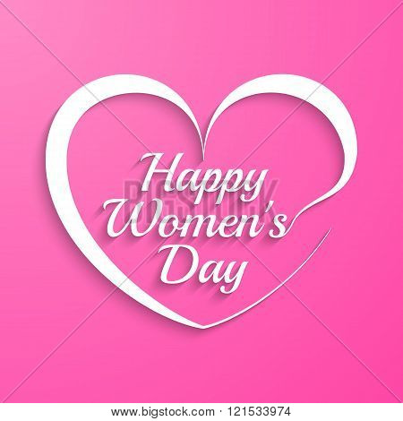 Woman Day lettering
