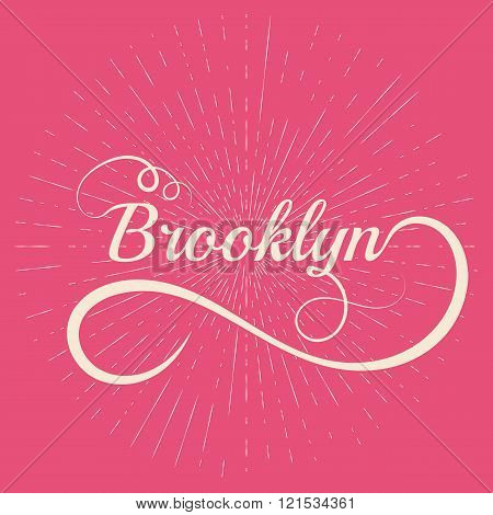 lettering Brooklyn. Stock vector