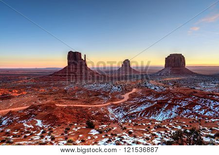 Sunrise Skies Monument Valley