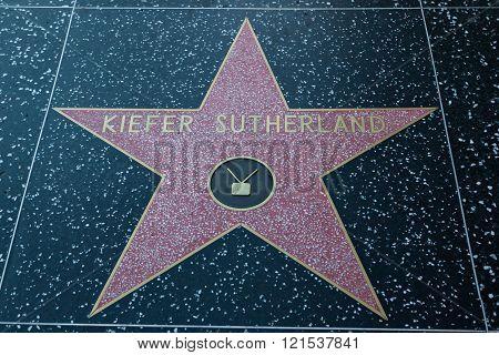 Kiefer Sutherland Hollywood Star