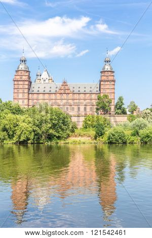 Frankfurt Johannisburg palace, Aschaffenburg Germany poster
