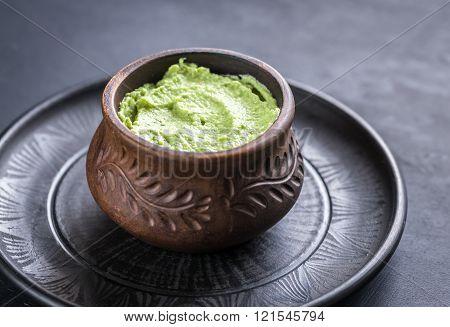 Bowl Of Guacamole Hummus