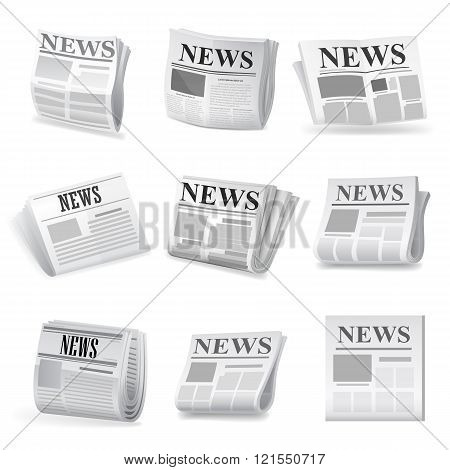 Newspaper icon. Vector