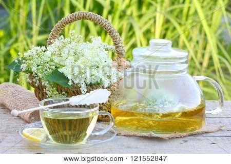 Elderflower tea elder