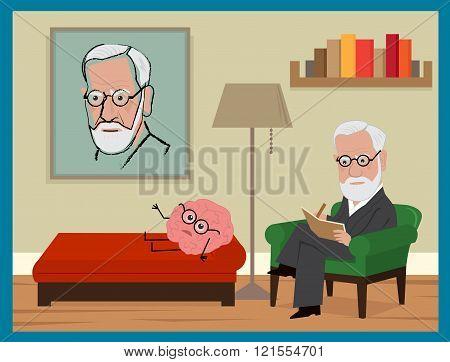 Sigmund Freud Cartoon