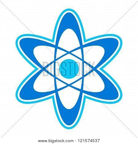 Atom symbol vector icon