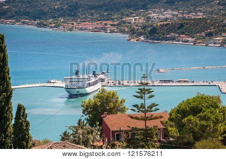 Ferryboat in Zakynthos port