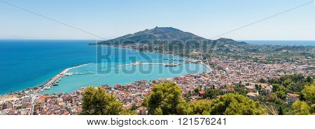 Panoramic view of Zakynthos city
