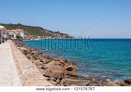 Caostline in Zakynthos city