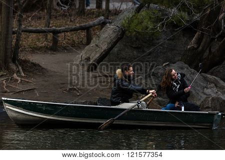 Boating On The Central Park Lake