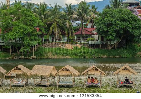 Vang Vieng Is A Tourist-oriented Town In Laos