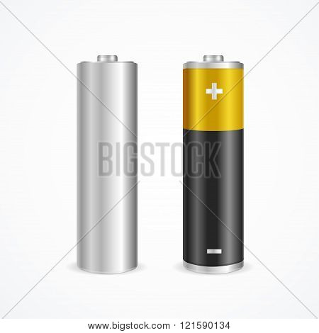 Two Battery Set. Vector