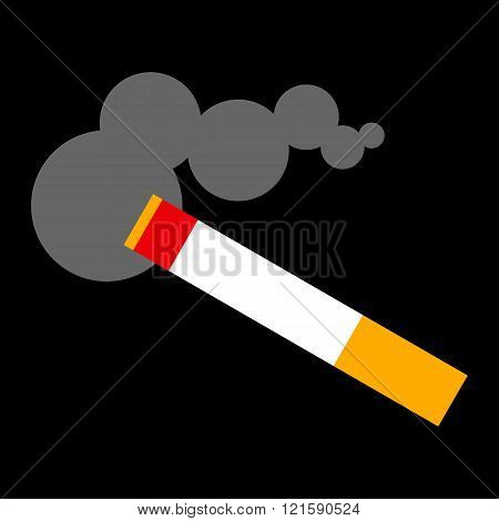 Cigarette smoking vector illustration