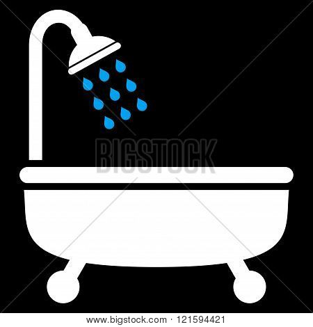 Shower Bath Flat Vector Symbol