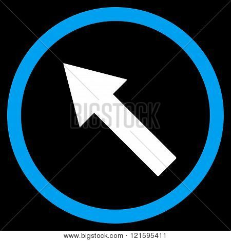 Up-Left Rounded Arrow Flat Vector Symbol