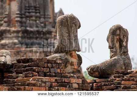Headless Statues Of Buddha, Ayutthaya