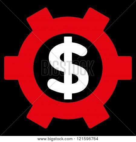 Financial Settings Flat Vector Symbol