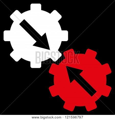 Gear Integration Flat Vector Symbol