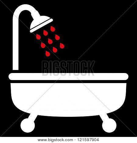 Shower Bath Flat Vector Symbol