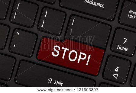 View On Conceptual Keyboard - Stop (red Key)