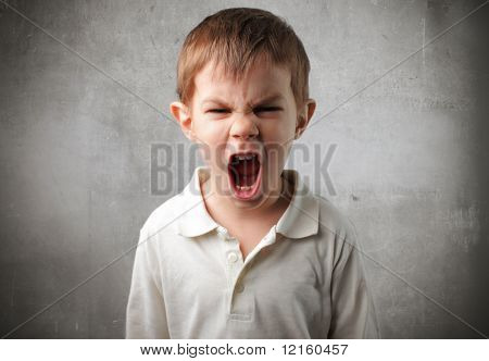Child with angry expression