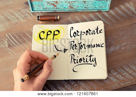Acronym Cpp As Corporate Performance Priority