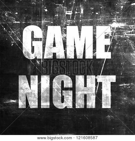 Game night sign