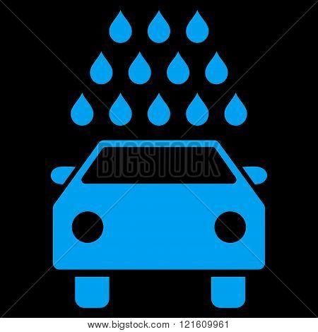 Car Wash Flat Vector Symbol