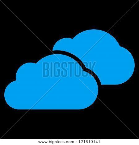Clouds Flat Vector Symbol
