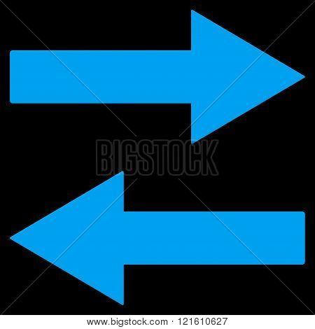 Horizontal Flip Arrows Flat Vector Symbol