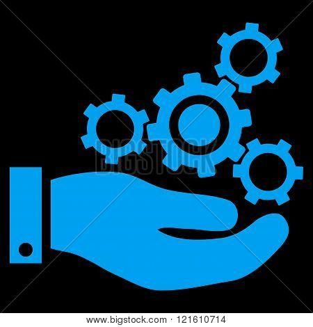 Mechanics Service Flat Vector Symbol