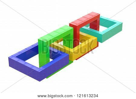 Three-dimensional Linked Squares
