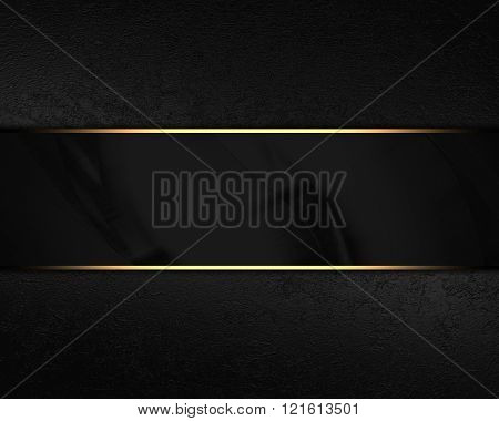 Black velvet background with black plate. Element for design on black background. Template for design. copy space for ad brochure or announcement invitation, abstract background.