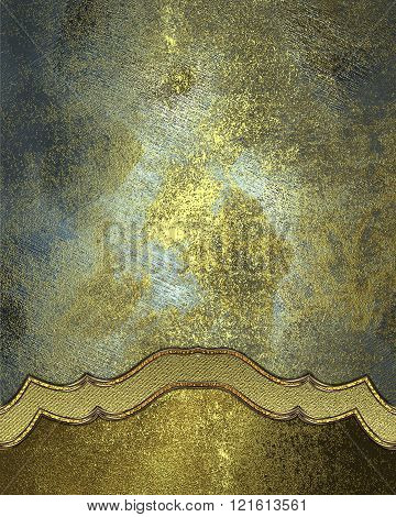 Element For Design On Metal Background. Template For Design. Copy Space For Ad Brochure Or Announcem