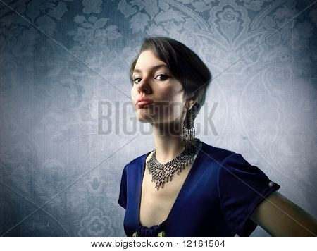 Snobby elegant woman
