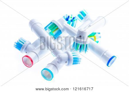 Different Electric Toothbrush Replacement Heads With Color Rings