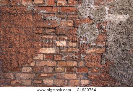 destroyed brick wall - grunge texture