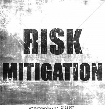 Risk mitigation sign with some smooth lines and highlights poster