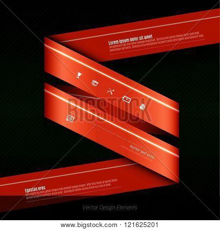 Vector Infographics Design For Presentation, Banners, Flyers Or Design Elements.