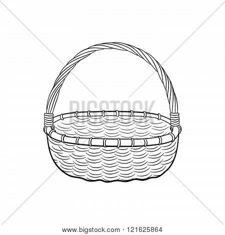 Picnic basket outline