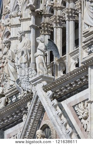 Siena Cathedral, Dedicated To The Assumption Of The Blessed Virgin Mary .siena. Italy