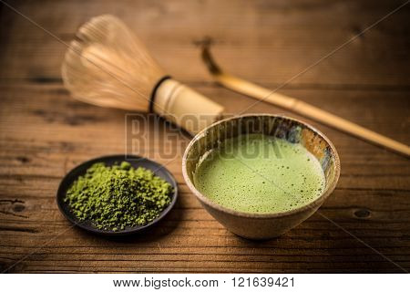 Matcha Tea In A Tea Bowl