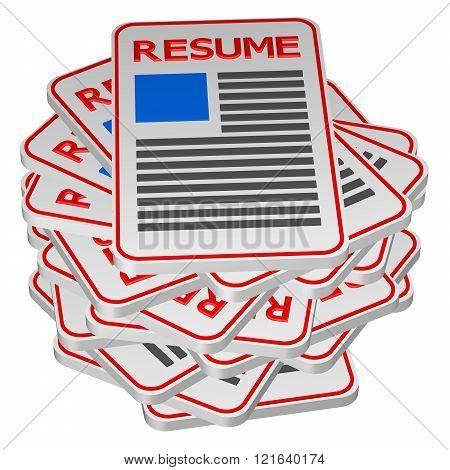 Concept : unemployment isolated on white background. 3D render. poster