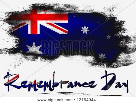 Remembrance Day With Australia Flag