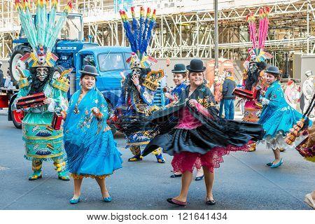 Bolivian Traditional Dancers